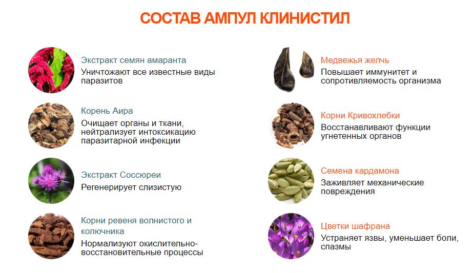 Состав средства Клинистил